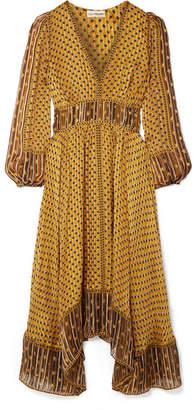Ulla Johnson Amabelle Printed Silk-jacquard Midi Dress