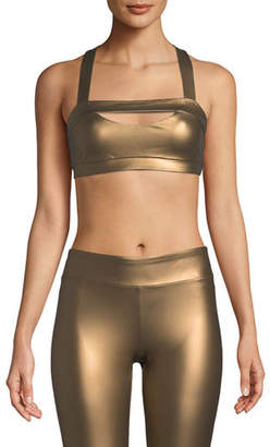 CUSHNIE Georgina Cross-Back Sports Bra