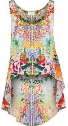 Camilla Crystal-Embellished Printed Silk Crepe De Chine Tunic