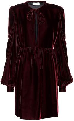 Saint Laurent Long-sleeved velvet dress