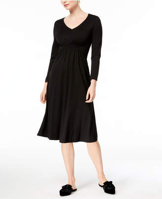 Max Mara Abano V-Neck Fit & Flare Dress