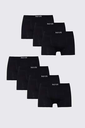boohoo 7 Pack MAN Black Boxers