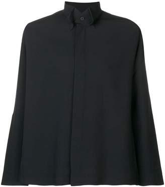 Issey Miyake Homme Plissé tailored tuxedo style shirt