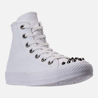Converse Women's Chuck Taylor High Top Stud Casual Shoes