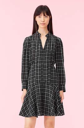 Rebecca Taylor Plaid Print Silk Dress