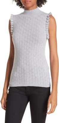 Rebecca Taylor Sleeveless Merino Wool Sweater