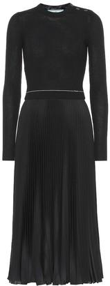 Prada Wool and silk-blend midi dress