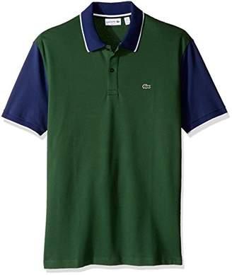 Lacoste Men's Short Sleeve Colorblock Stretch Pique Slim Polo