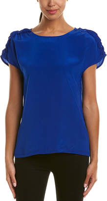Reiss Natalie Silk-Blend Top