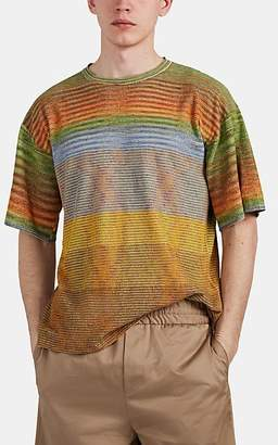 Missoni Men's Marled Waffle-Knit Cotton-Blend T-Shirt - Grn. Pat.