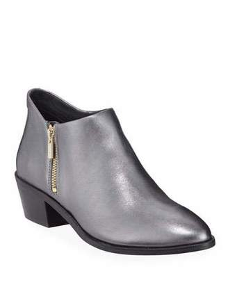 Taryn Rose Sara Metallic Leather Ankle Booties