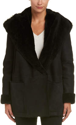 Vince Hooded Shawl Collar Coat