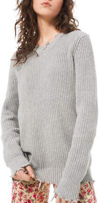 Michael Kors Distressed Crewneck Sweater