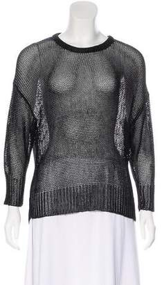 Alexander Wang Metallic Open Knit Sweater