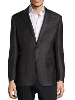 Armani Collezioni Plaid Wool Sportcoat