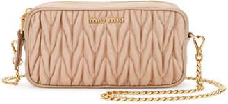 Miu Miu Matelasse Leather Belt Bag