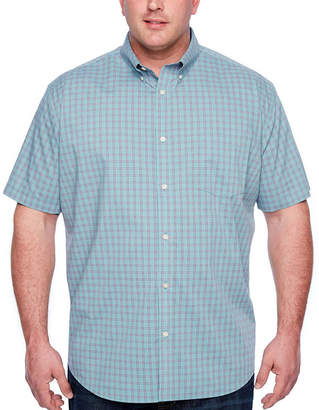 Co THE FOUNDRY SUPPLY The Foundry Big & Tall Supply Short Sleeve Checked Button-Front Shirt-Big and Tall