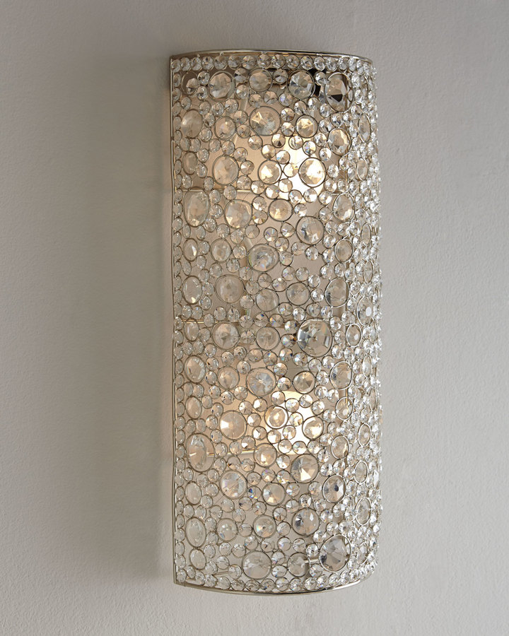 """Horchow """"Scattered Crystal"""" Sconce"""