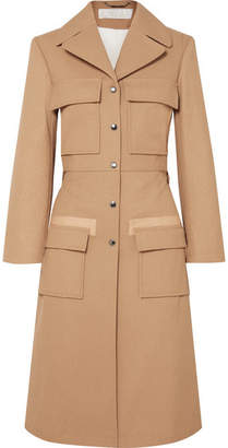 Chloé Woven Cotton Trench Coat - Tan