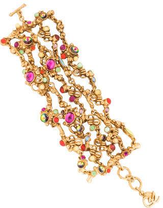 Christian LacroixChristian Lacroix Crystal Multistrand Bracelet