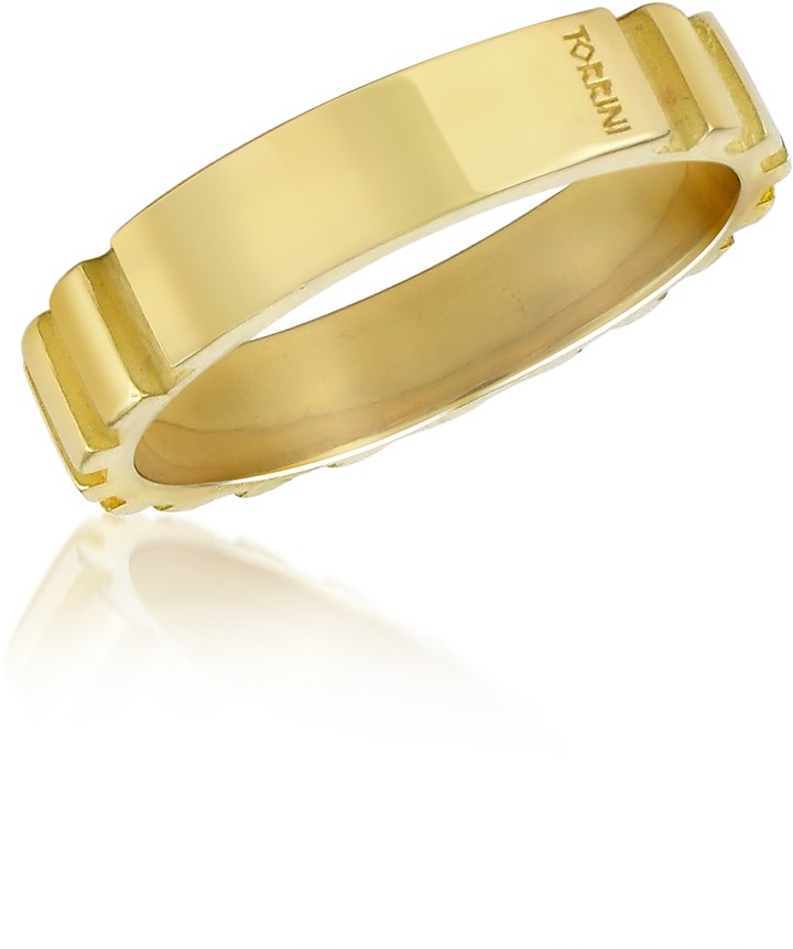 Torrini Stripes - 18k Yellow Gold Band Ring