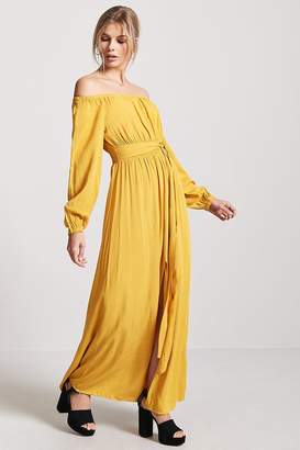 Forever 21 Woven Off-the-Shoulder Maxi Dress
