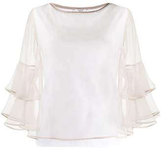 Peserico knitted trim blouse