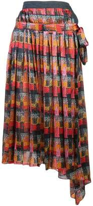 ADAM by Adam Lippes printed wrap skirt