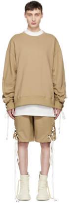 D.gnak By Kang.d Beige String Sleeve Sweatshirt