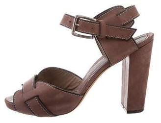 Marni Leather Ankle-Strap Sandals