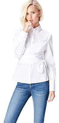 FIND Women's Blouse with Wrap-over Bodice Detail and Long Sleeve,(Manufacturer size: XX-Large)