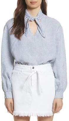 Frame Stripe Handkerchief Blouse