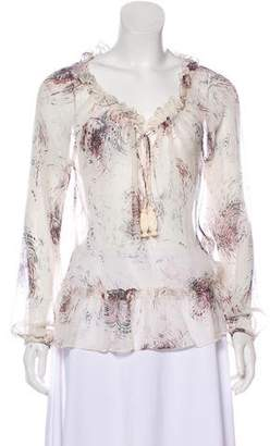 Elizabeth and James Silk Long Sleeve Blouse