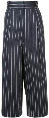 Tibi striped cropped trousers