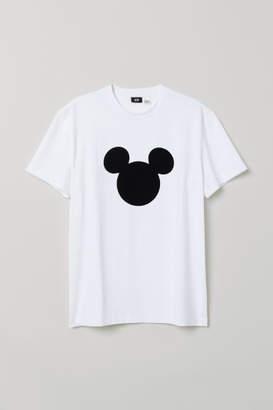 H&M Flock-print T-shirt - White