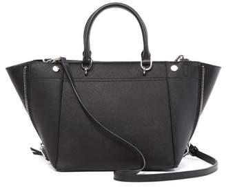 Modern American Designer Susan Saffiano Leather Trapeze Handbag