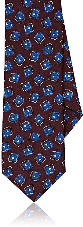 Barneys New YorkBarneys New York Men's Square-Medallion-Print Silk Necktie