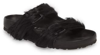 Birkenstock RICK OWENS BY  x Rick Owens Arizona Genuine Calf Hair Slide Sandal