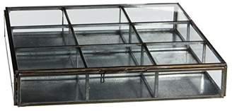 Grazia Casa Vivante Jewellery Boxes, Metal, grey, 23 x 23 x 4.5 cm