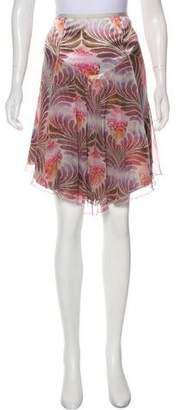 Diane von Furstenberg Silk Floral Skirt