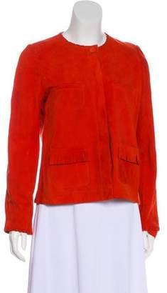 Gerard Darel Button-Up Suede Jacket