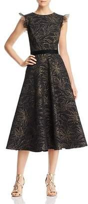 Tadashi Shoji Brocade Dot Dress