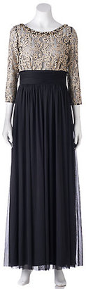 Women's Jessica Howard Contrast Lace Evening Gown $204 thestylecure.com