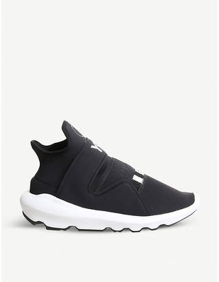 adidas Y3 Y-3 Suberou neoprene and leather trainers