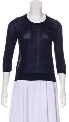 Dolce & Gabbana Appliqué Crew Neck Sweater