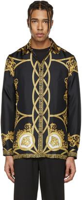 Versace Black Coup de Dieu Shirt $1,250 thestylecure.com
