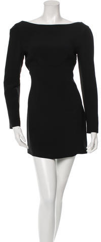 prada Prada Bateau Neck Mini Dress