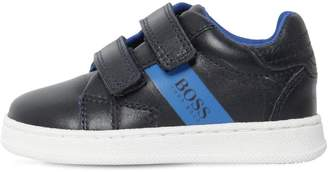 HUGO BOSS Logo Printed Leather Sneakers