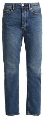 Acne Studios Bla Konst Log Low Rise Straight Leg Jeans - Womens - Mid Blue