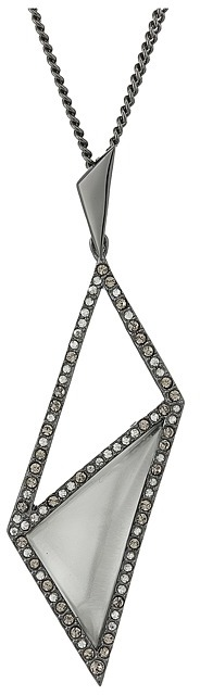 Alexis Bittar Alexis Bittar Crystal Framed Diamond Shaped Pendant Necklace